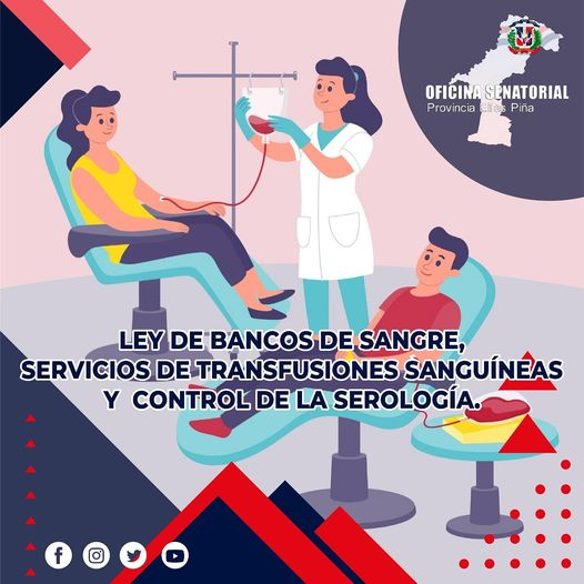 Ley sobre Bancos de Sangre, Servicios de Transfusiones Sanguíneas y Control de la Serología.